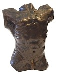 Pocket Art Rodin Male Torso Miniature Figurine