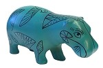 Pocket Art Egyptian Hippo Blue Miniature Statue 4L