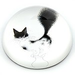 Escape Plan Cat Glass Paperweight by Dubout