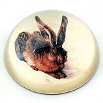 Sitting Rabbit Glass Paperweight by Albrecht Durer - special order