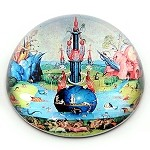 Garden of Earthly Delights Glass Paperwight by Bosch