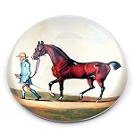 Bay Horse Glass Paperweight by English Painter James Seymour - special order