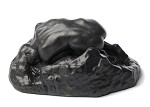 Danaide by Rodin Nude Woman on Rock Statue  Bronze Parastone RO21