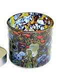 Van Gogh Irises Glass Tealight Candleholder